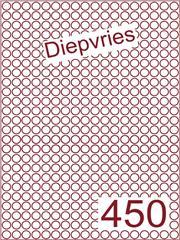 Etiket diepvries belijming Rond ø9mm (450) ds500vel A4