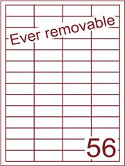 Etiket A4 ever removable wit 48x20mm (56) ds600vel A4 (HG56-4)