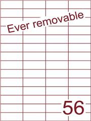 Etiket A4 ever removable wit 52,5x21,2mm (56) ds600vel A4 (H56-4)