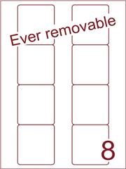 Etiket A4 ever removable wit Disklabels 70x72 (8) ds600vel A4