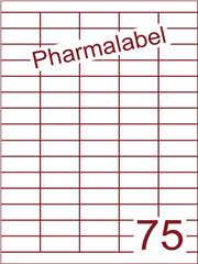 Etiket A4 Pharmalabel 40x18mm (75) ds1000vel A4 (HG75-5)