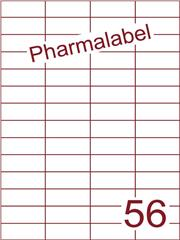 Etiket A4 Pharmalabel 52,5x21,2mm (56) ds1000vel A4 (H56-4)