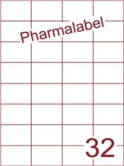 Etiket A4 Pharmalabel 52,5x37,1mm (32) ds1000vel A4 (H32-4)