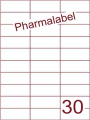 Etiket A4 Pharmalabel 70x29,7mm (30) ds1000vel A4 (H30-3)
