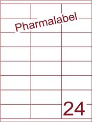 Etiket A4 Pharmalabel 70x35mm (24) ds1000vel A4 (HG24-3S)