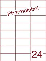 Etiket A4 Pharmalabel 70x37,1mm (24) ds1000vel A4 (H24-3)