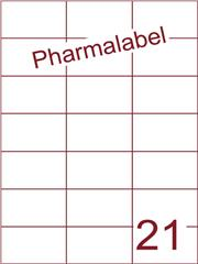 Etiket A4 Pharmalabel 70x42,4mm (21) ds1000vel A4 (H21-3)
