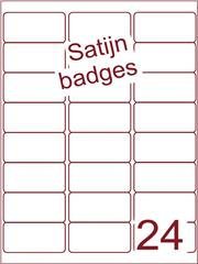Etiket A4 satijn voor badges 63,5x33,9mm (24) ds 125vel