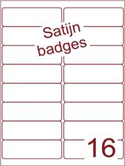 Etiket A4 satijn voor badges 99,1x33,9mm (16) ds 125vel