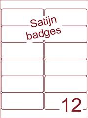 Etiket satijn voor badges 99,1x42,3mm (12) ds125vel A4