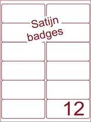 Etiket satijn voor badges 99,1x46,6mm (12) ds125vel A4