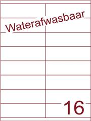 Etiket A4 waterafwasbaar 105x35 (16) ds 500vel (HG16-2S)