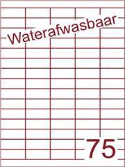Etiket A4 waterafwasbaar 40x18 (75) ds 500vel (HG75-5)