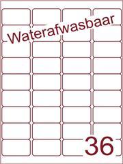 Etiket A4 waterafwasbaar 48,3x29,7 (36) ds 500vel (A36-4)