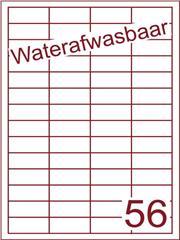 Etiket A4 waterafwasbaar 48x20 (56) ds 500vel (HG56-4)