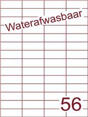Etiket A4 waterafwasbaar 52,5x21,2 (56) ds 500vel (H56-4)