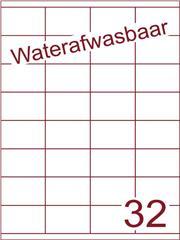Etiket A4 waterafwasbaar 52,5x35 (32) ds 500vel (HG32-4)