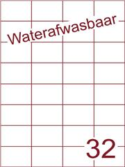 Etiket A4 waterafwasbaar 52,5x37,1 (32) ds 500vel (H32-4)