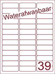 Etiket A4 waterafwasbaar 63,5x21,2 (39) ds 500vel (A39-3)