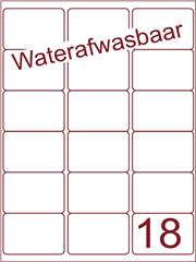 Etiket A4 waterafwasbaar 63,5x46,6 (18) ds 500vel (A18-3)