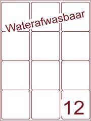 Etiket A4 waterafwasbaar 63,5x72 (12) ds 500vel (A12-3)