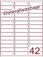 Etiket A4 waterafwasbaar 65x20 (42) ds 500vel (A42-3)