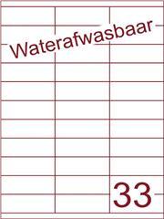 Etiket A4 waterafwasbaar 70x25,4 (33) ds 500vel (HG33-3)