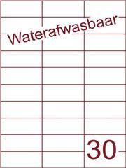 Etiket A4 waterafwasbaar 70x29,7 (30) ds 500vel (H30-3)