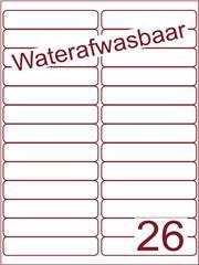 Etiket A4 waterafwasbaar 99,1x21,2 (26) ds 500vel (A26-2)