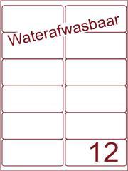 Etiket A4 waterafwasbaar 99,1x46,6 (12) ds 500vel (A12-2S)