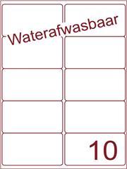 Etiket A4 waterafwasbaar 99,1x56,8 (10) ds 500vel (A10-2)