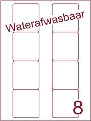 Etiket A4 waterafwasbaar Disklabels 70x72 (8) ds 500vel