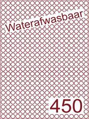 Etiket waterafwasbaar rond Ø9mm (450) ds500vel A4