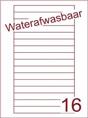 Etiket A4 waterafwasbaar Videolabels 145x17 (16) ds 500vel