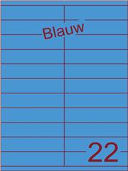 Etiket blauw 105x25,4mm (22) ds200vel A4