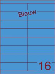 Etiket blauw 105x33,9mm (16) ds100vel A4