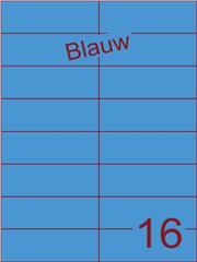 Etiket blauw 105x37,1mm (16) ds100vel A4 (SC5620464)
