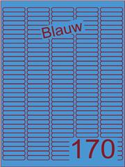 Etiket blauw 38,1x8mm (170) ds200vel A4