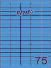 Etiket blauw 40x18mm (75) ds200vel A4