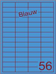 Etiket blauw 48x20mm (56) ds200vel A4
