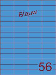 Etiket blauw 52,5x21,2mm (56) ds100vel A4