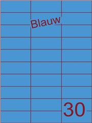 Etiket blauw 70x29,7mm (30) ds100vel A4