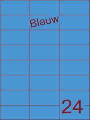 Etiket blauw 70x37,1mm (24) ds100vel A4 (SC5620357)