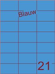 Etiket blauw 70x42,4mm (21) ds100vel A4 (SC5620452)
