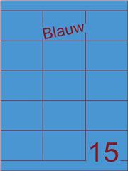 Etiket blauw 70x52mm (15) ds200vel A4
