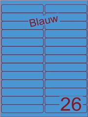 Etiket blauw 99,1x21,2mm (26) ds200vel A4