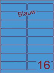 Etiket blauw 99,1x33,9mm (16) ds200vel A4