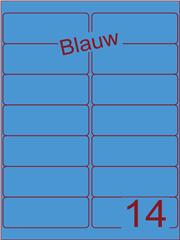 Etiket blauw 99,1x38,1mm (14) doos100vel A4
