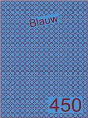 Etiket blauw rond ø9mm (450) ds200vel A4