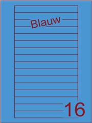 Etiket blauw Videolabels 145x17 (16) ds200vel A4